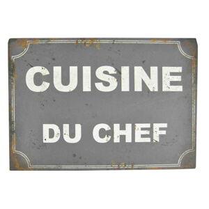 Plechová cedule Antic Line Cusine Du Chef