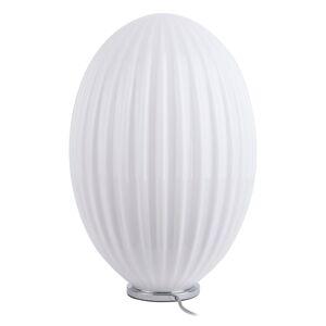 Bílá skleněná stolní lampa Leitmotiv Smart,ø30cm