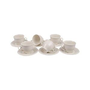 Sada 6 porcelánových hrnečků s podšálky Kutahya Elegance, 150 ml