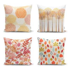 Sada 4 povlaků na polštáře Minimalist Cushion Covers Autumn Design, 45 x 45 cm