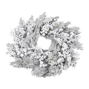 Bílý vánoční věnec Ego Dekor Chima,ø50cm