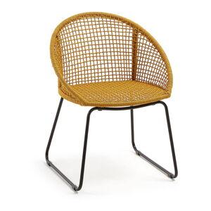 Hořčicově žlutá zahradní židle s ocelovou konstrukcí La Forma Sandrine