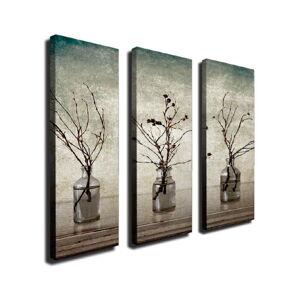 3dílný nástěnný obraz na plátně Vases