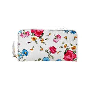 Kožená peněženka Chicca Borse Flowerina