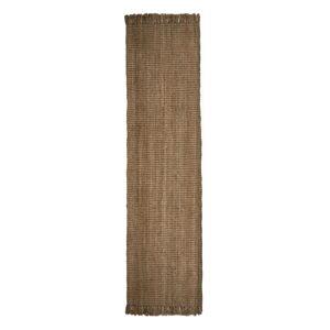 Hnědý jutový běhoun Flair Rugs Jute, 60 x 230 cm