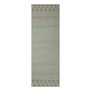 Zeleno-béžový venkovní koberec Bougari Sidon, 70 x 200 cm
