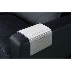 Bílá dřevěná područka na pohovku WOOOD Trayer