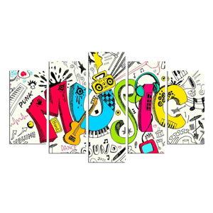 Vícedílný nástěnný obraz Music Color