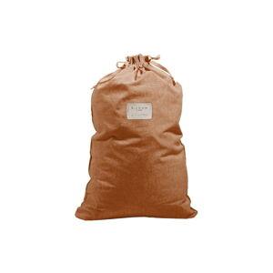 Látkový vak na prádlo s příměsí lnu Linen Couture Bag Terracota, výška 75 cm