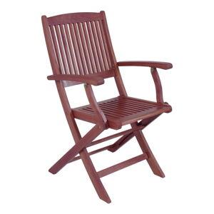 Sada 2 zahradních skládacích židlí z eukalyptového dřeva s područkami ADDU Stockholm