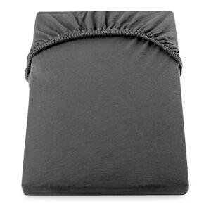 Tmavě šedé elastické prostěradlo DecoKing Nephrite, 100/120 x 200 cm