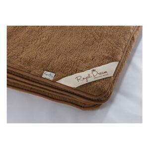 Tmavě hnědá deka z merino vlny Royal Dream,140x200cm