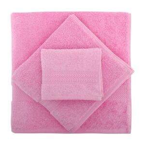 Set 3 růžových ručníků a osušky Rainbow