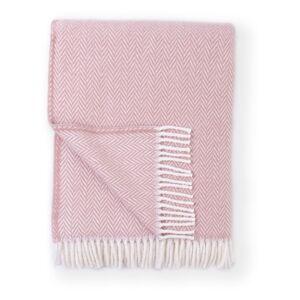 Růžový pléd s podílem bavlny Euromant Skyline, 140 x 180 cm