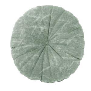 Zelený dekorativní polštář Tiseco Home Studio Chester,ø38 cm