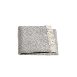 Šedý pléd s podílem bavlny Euromant Tiger, 140x180cm
