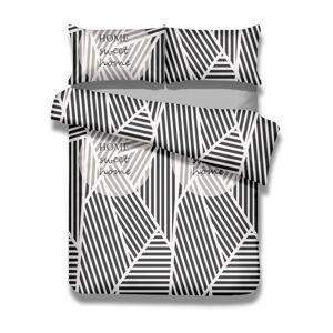 Sada bavlněného povlaku na peřinu a 2 povlaků na polštáře AmeliaHome Averi Sweet Home Light, 220 x 240 cm + 63 x 63 cm
