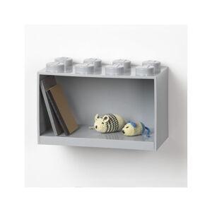 Dětská šedá nástěnná police LEGO® Brick 8