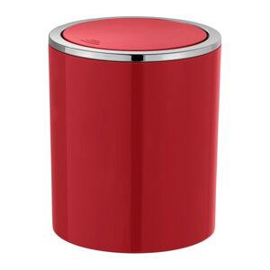 Červený odpadkový koš Wenko Inca, 2 l