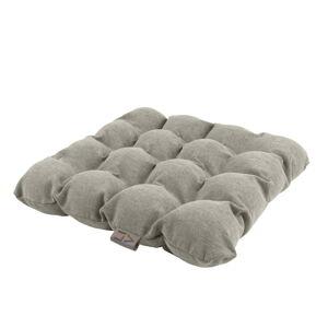 Světle šedý sedací polštářek s masážními míčky Linda Vrňáková Bubbles, 45x45cm