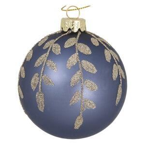 Modrá skleněná vánoční ozdoba Green Gate Mozy