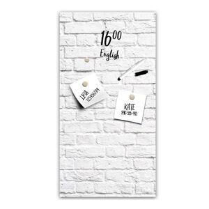 Magnetická tabule Styler White Bricks, 30 x 60 cm