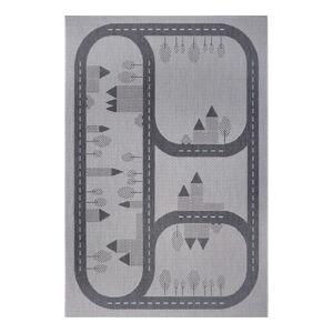 Šedý dětský koberec Ragami Roads, 120 x 170 cm