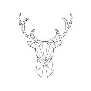 Nástěnný vešák ve tvaru jelena Leitmotiv