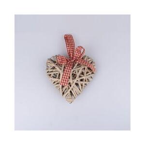 Ratanové závěsné srdce Dakls, výška 15 cm