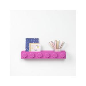 Dětská růžová nástěnná polička LEGO® Sleek