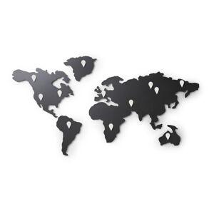 Černá nástěnná samolepka Umbra Map