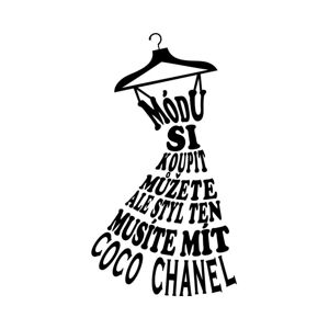 Samolepka na zeď s citátem Ambiance Coco Chanel