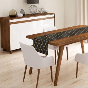 Běhoun na stůl Minimalist Cushion Covers Black Ogea,45x140cm