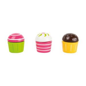 Sada 3 dětských dřevěných hraček ve tvaru cupcaků Legler Cupcakes