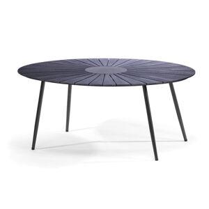 Černý zahradní stůl s artwood deskou a kamenným středem Le Bonom Marienlist, 115 x 190 cm