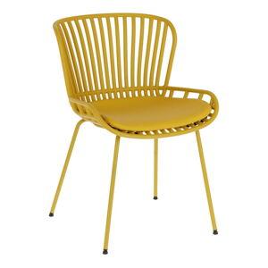 Hořčicově žlutá zahradní židle s ocelovou konstrukcí La Forma Surpik