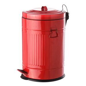 Červený pedálový kovový odpadkový koš Unimasa, 20 l
