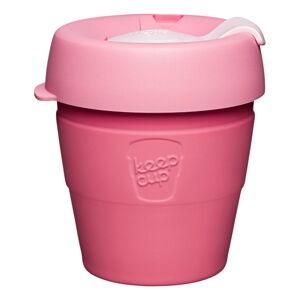 Růžový cestovní hrnek s víčkem KeepCup Saskatoon Thermal,177ml