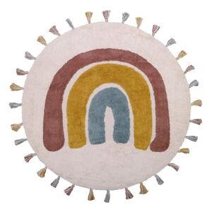Dětský ručně vyrobený koberec Nattiot Rainbow, ø110cm
