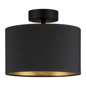 Černé stropní svítidlo s detailem ve zlaté barvě Bulb Attack Tres S, ⌀ 25 cm