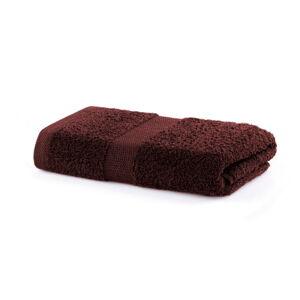 Hnědý ručník DecoKing Marina, 50 x 100 cm