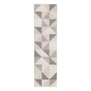Šedo-béžový koberec Flair Rugs Urban Triangle, 60 x 220 cm