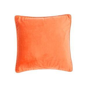 Oranžový polštář Tiseco Home Studio Velvety, 45x45cm