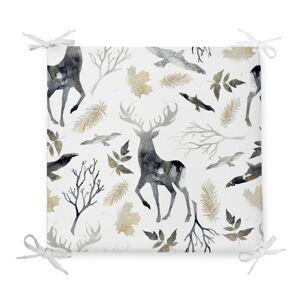 Vánoční podsedák s příměsí bavlny Minimalist Cushion Covers Dark Forest,42x42cm
