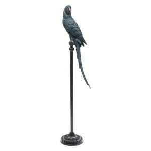 Dekorativní socha papouška v modro-zelené barvě Kare Design