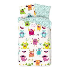 Dětské bavlněné povlečení Good Morning Monsters,140x220cm
