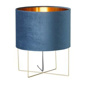 Modrá stolní lampa Fischer & Honsel Aura,výška43 cm