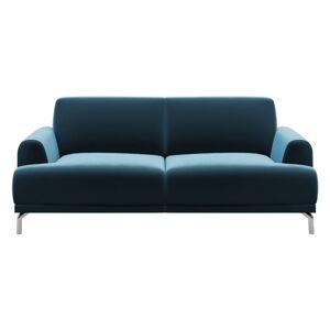 Modrá sametová pohovka MESONICA Puzzo, 170 cm