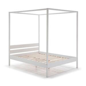 Bílá dřevěná postel Marckeric Dossel,160x200cm