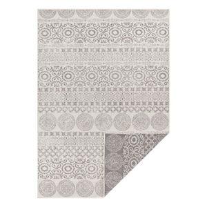 Šedo-bílý venkovní koberec Ragami Circle, 160 x 230